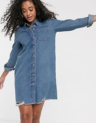 Jacqueline de Yong Vestito di jeans oversize blu