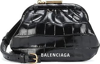 Balenciaga Cloud croc-effect leather clutch