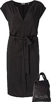 YaYa Jersey Belted Dress - Fast schwarz - Size XS (UK 8)