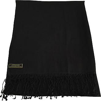 CJ Apparel Black Solid Colour Design Nepalese Shawl Scarf Wrap Stole Throw Pashmina CJ Apparel NEW