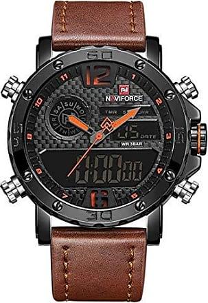 NAVIFORCE Relógio Naviforce NF9134BO Pulseira de Couro Marrom