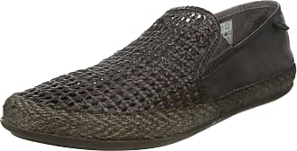 Base London STAGE WEAVE Mens Soft Leather Espadrille Shoes Brown 42