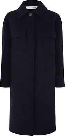 Victoria Beckham Wool-blend Coat - Navy