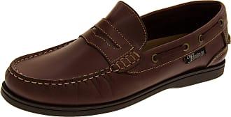 Footwear Studio Helmsman Mens 72015 Redwood Real Leather Casual Deck Shoes UK 8