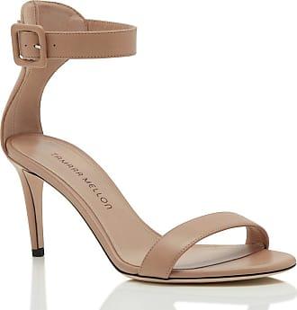 Tamara Mellon Heroine Beige Nappa Sandals, Size - 35.5