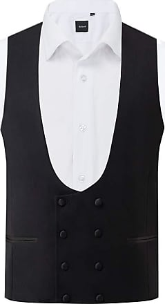 Dobell Mens Black Tuxedo Waistcoat Slim Fit Double Breasted-S (34-36in)