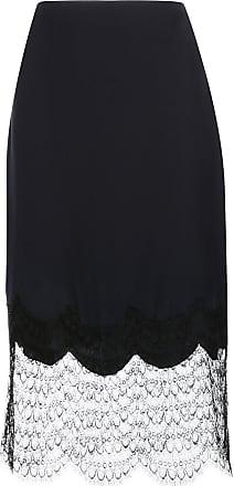 Kiki De Montparnasse Charmeuse slik skirt - Black
