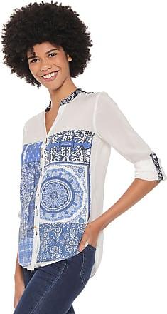 Desigual Camisa Desigual Blue Empaty Branca/Azul