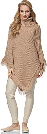 Merry Style Womens Poncho MSSE0038 (Camel, L/XL)