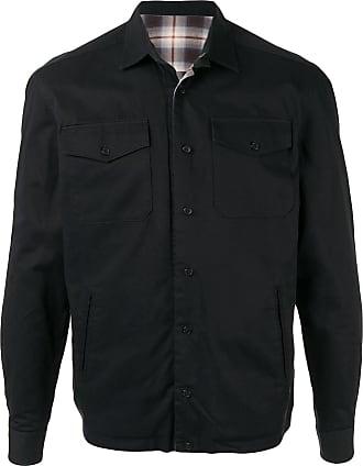 Kent & Curwen flap pocket shirt jacket - Black