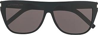 Saint Laurent Eyewear Óculos de sol oversized - Preto