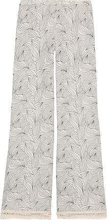 Eberjey Eberjey Woman Natalya Crochet-trimmed Printed Cotton-gauze Wide-leg Pants Ivory Size M/L