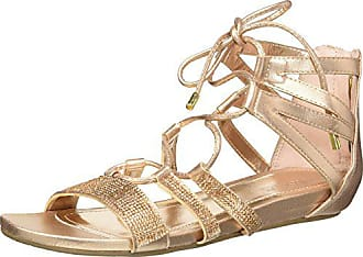 Kenneth Cole Reaction Womens 7 Lost Look Gladiator Laceup Sandal, Light Gold, 6 M US