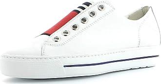 Paul Green Women Trainers 4797, Ladies Low-Tops, Low Shoe,Street Shoe,Lacer,Sport Shoe,Leisure,White/RED,38.5 EU / 5.5 UK