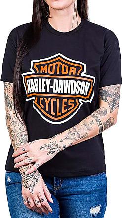 Bandalheira Camiseta Harley Davidson Logo Gola c/Elastano - UNISSEX