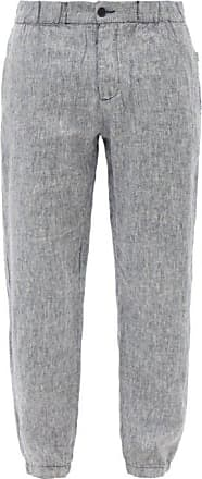 Onia Elijah Linen Trousers - Mens - Navy