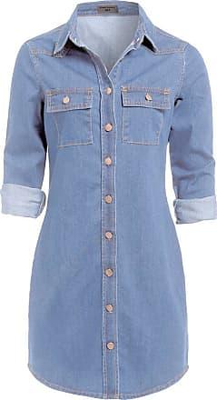 SS7 New Vintage Denim Blue Shirt Dress Sizes 6-16 (UK - 16, Denim Blue)