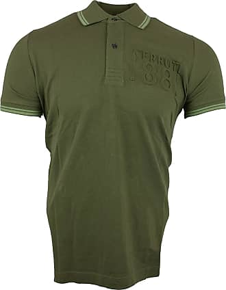 Cerruti 1881 Mens Cotton Polo Shirt with Short Sleeves and Border - Green - XX-Large