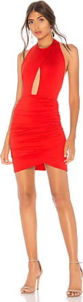 by the way. Lauren Ruched Cut Out Dress in Red