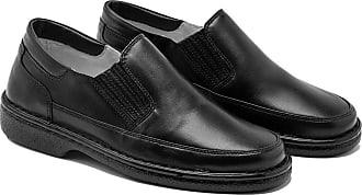 Generico Sapato social masculino, semi-ortopédico em legitimo couro mestiço(pelica), sola antistress modelo CR-1005 (36, CR-1005 mestiço preto)