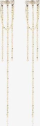 Xiao Wang Womens Metallic 14k Yellow Gold Elements Diamond Earrings