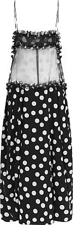 Lee Mathews Cherry Polka-Dot Silk And Cotton-Blend Dress