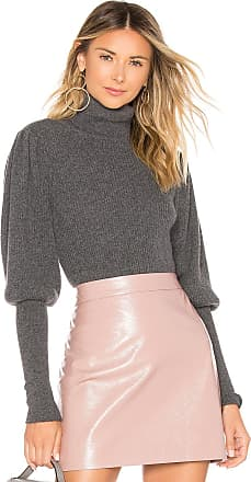 Milly Cashmere Puff Sleeve Sweater in Gray
