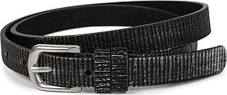 styleBREAKER narrow plain-coloured belt with metallic stripes, vintage, can be shortened, women 03010089, size:100cm, color:Black