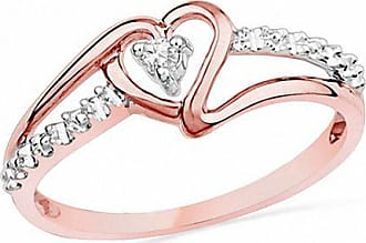 f563d72c5b2 Zales Diamond Accent Heart Promise Ring in 10K Rose Gold