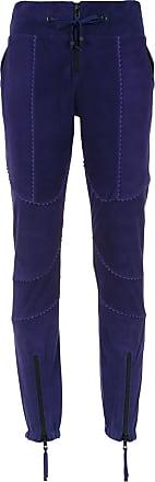 Andrea Bogosian Calça skinny com recortes - Azul