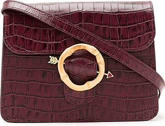 Waiwai Bolsa Clarice de couro - Vermelho