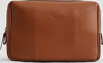 No.14 Savile Row No. 14 Leather Wash Bag | Tan