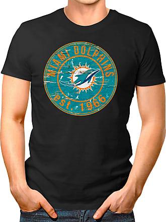 OM3 Miami-Badge - T-Shirt | Mens | American Football Shirt | 3XL, Black