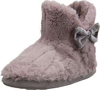 c7c9364bd Totes Womens Ladies Textured Fur Boot Slippers Hi-Top