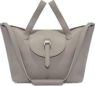 Meli Melo Meli Melo Thela Medium Taupe Grey Leather Tote Bag for Women