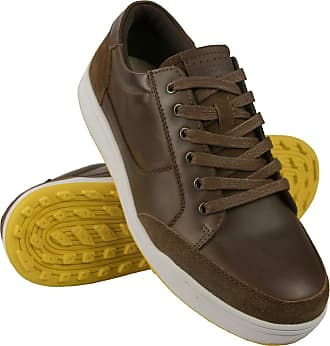Zerimar Mens Golf Shoes | Leather Golf Shoe | Mens Sports Shoes | Mens Golf Shoes | Mens Sports Shoes | Mens Golf Shoes Brown Size: 10.5 UK