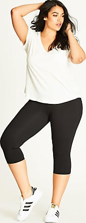010742ba049a0 City Chic Wide Band 3/4-Length Legging in Black - Size 14 -