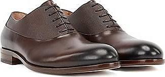 BOSS In Italien gefertigte Oxford-Schuhe aus Leder mit geprägtem Detail