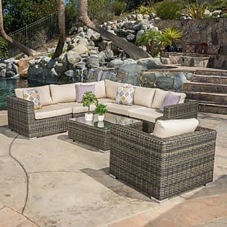 BEST SELLING HOME Outdoor Oxnard 7 Piece Conversation Set with Cushion - 296073