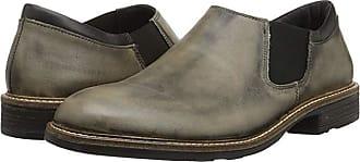 Naot Director (Vintage Gray Leather/Jet Black Leather) Mens Slip on Shoes