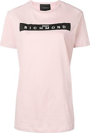 John Richmond Camiseta com logo de tachas - Rosa