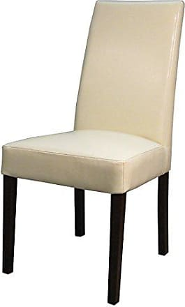 New Pacific Direct 198140B-2050 Hartford Bonded Leather, Set of 2 Dining Chairs, Beige