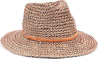 ále by Alessandra Womens Trancoso Crochet Sea Grass Sunhat Packable & Adjustable, Orange, One Size