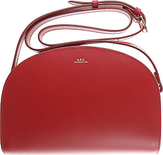 A.P.C. Shoulder Bag for Women, Dark Cherry Red, Leather, 2017, one size