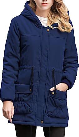 NPRADLA LEXUPE Women Autumn Winter Warm Comfortable Coat Casual Fashion Jacket Long Coat Collar Hooded Jacket Slim Winter Parka Outwear Coats