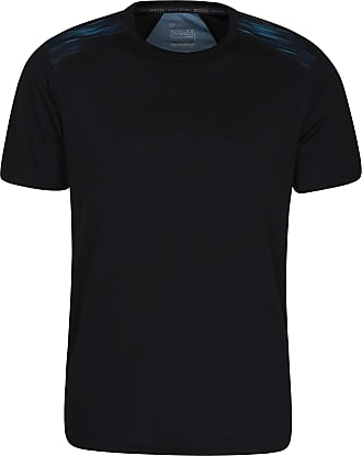 Mountain Warehouse Aspect Mens Printed Panel Tee - Lightweight Summer T-Shirt, High Wicking Tee Shirt, Fast Drying Top, Easy Care - Ideal for Hiking, Travelling, Camping