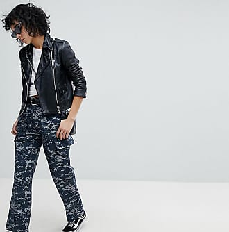 Reclaimed Vintage Revived Military Trousers In Pixel Camo-Blue