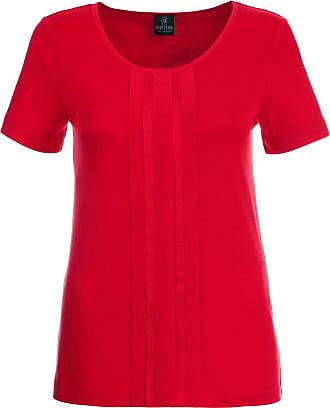 Madeleine Shirt im edlen Material-Mix in rot MADELEINE Gr 34 für Damen. Seide. Waschbar