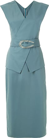 Framed Vestido midi Cotton com fivela - Azul