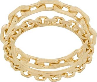 Wouters & Hendrix chain-embellished stacked ring - GOLD